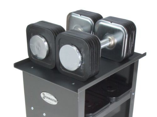 Ironmaster 75 lb Quick-Lock Adjustable Dumbbell System with Stand by Ironmaster, http://www.amazon.com/dp/B000GE5QRM/ref=cm_sw_r_pi_dp_OKhQrb183EVNM