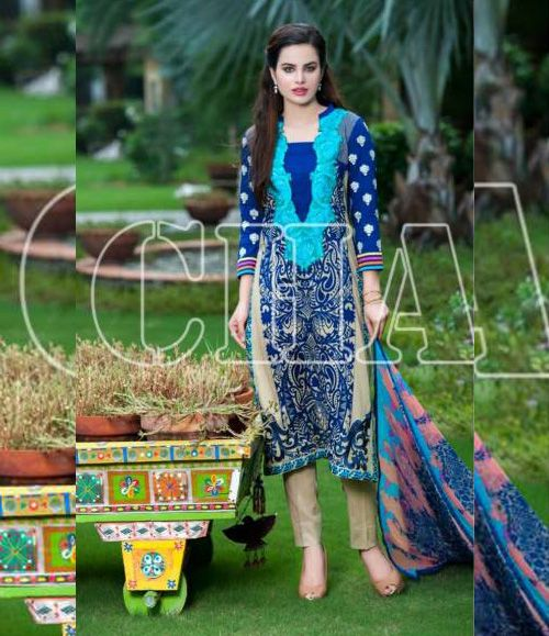 Charizma Range Vol-3 Luxury Lawn Embroidered Collection CR-614