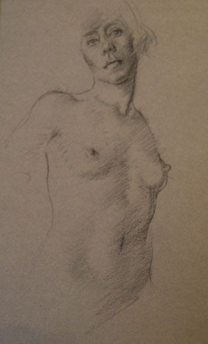 nude drawing by Middleton Todd RA