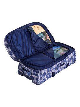 roxy, Long Haul - Très grande valise à roulettes, AKIYA COMBO BLUE PRINT (bsq7)