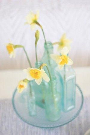 Aqua Flowers and Tablescapes - Elizabeth Anne Designs: The Wedding Blog