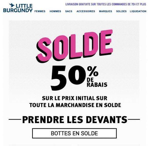 Solde Little Burgundy 50%  de RABAIS sur les Bottes