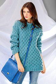 dámský ručně pletený svetr z příze Meribel nebo Cosima