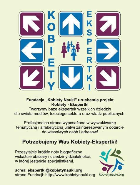 Ulotka promocyjna projektu.  Więcej na stronie: www.ekspertki.com