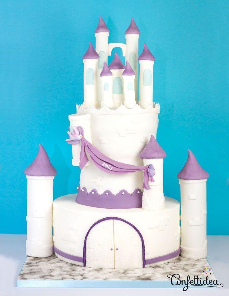 princesse sofia cake - gâteau château disney de Confettidea