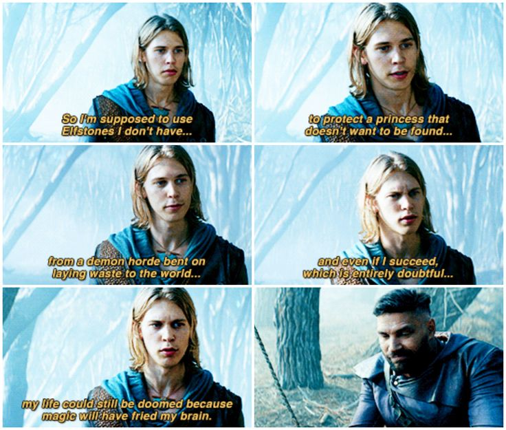 """The Shannara Chronicles 1x01/1x02 """"Chosen."""" I love how Allanon just smirks like """"yeah, that just about sums it up."""""""