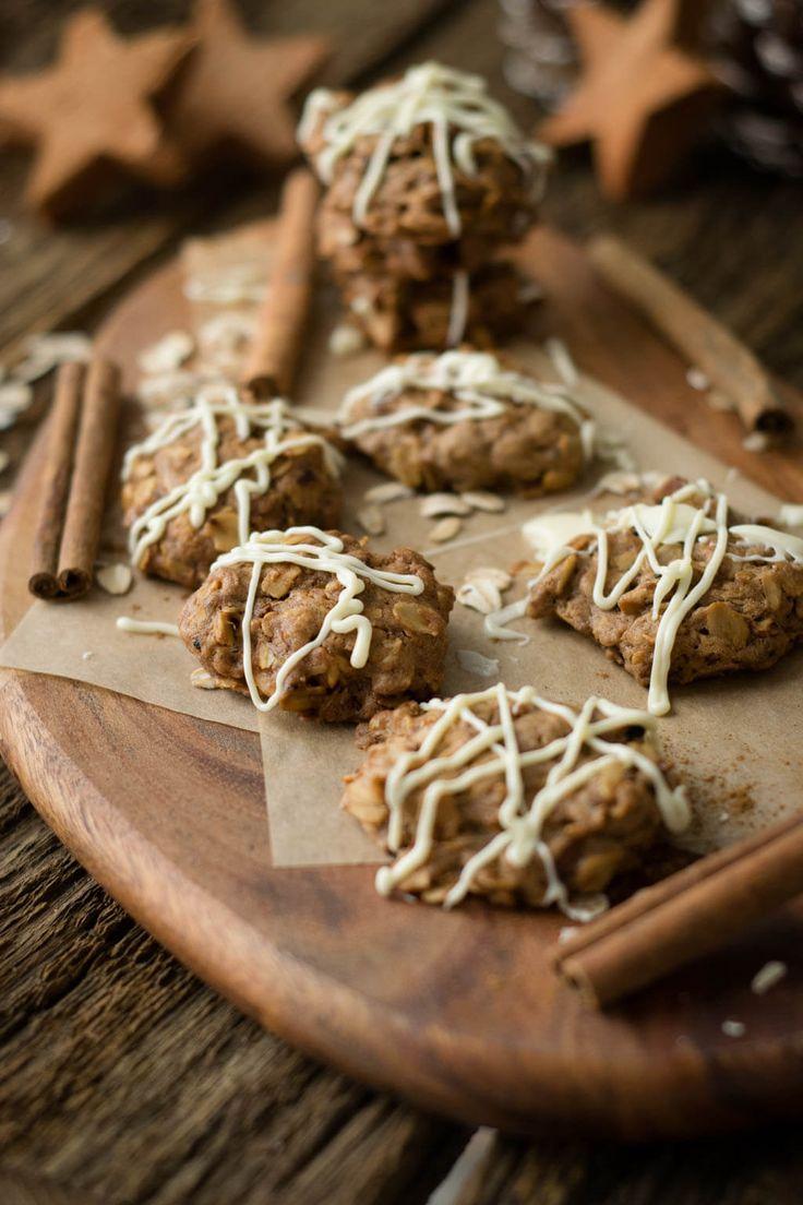 Weihnachtskekse - super tolles Rezept für Zimt Hafer Cookies