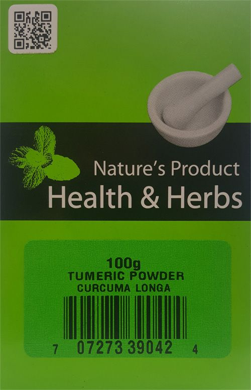 Natures Product Health & Herbs Tumeric powder 100g Curcuma Longa