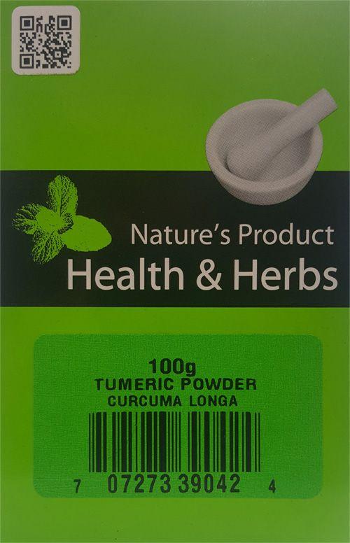 Natures Product Health & Herbs Tumeric powder 100g Curcuma Longa