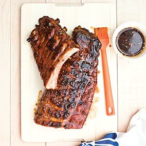 Our Best Rib Recipes for the Grill  | Grilled Baby Back Ribs with Sticky Brown Sugar Glaze | MyRecipes.com