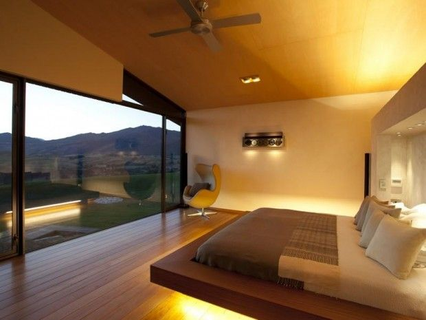 minimalist bedroom with a view.