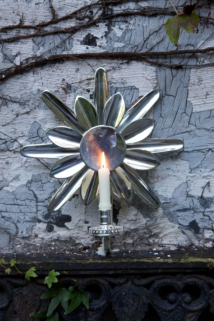 Silver Sunburst candle wall sconce by Victoria and Son