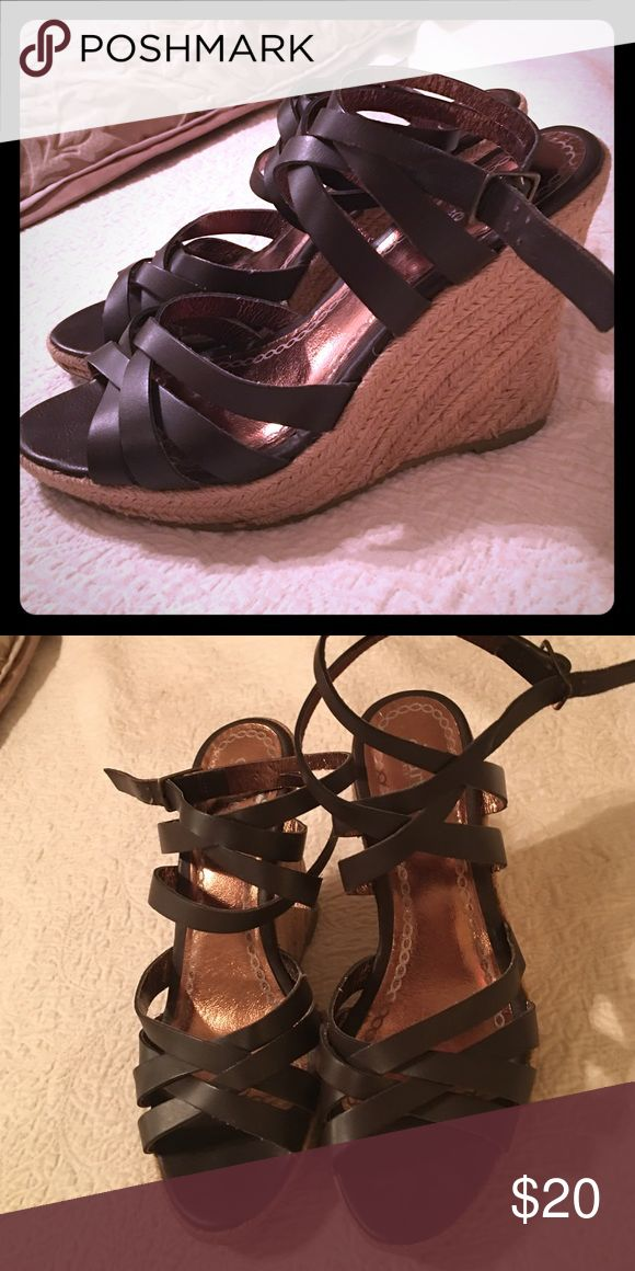 ❤️wedge sandals by Charles David Super cute leather wedge sandals by Charles David ! ❣ Charles David Shoes Wedges