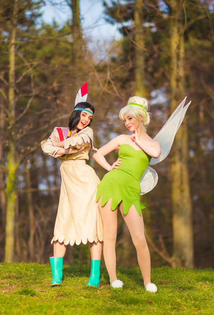 Tiger Lily & Tinkerbell, Caro & Cléo Cosplay, photo by Omaru