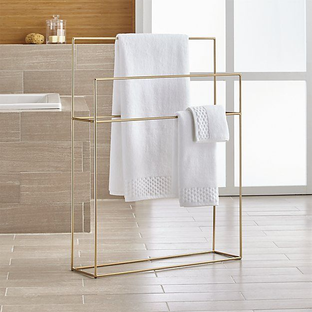 Jackson Brushed Gold Standing Towel Rack P L A C E S Amp A