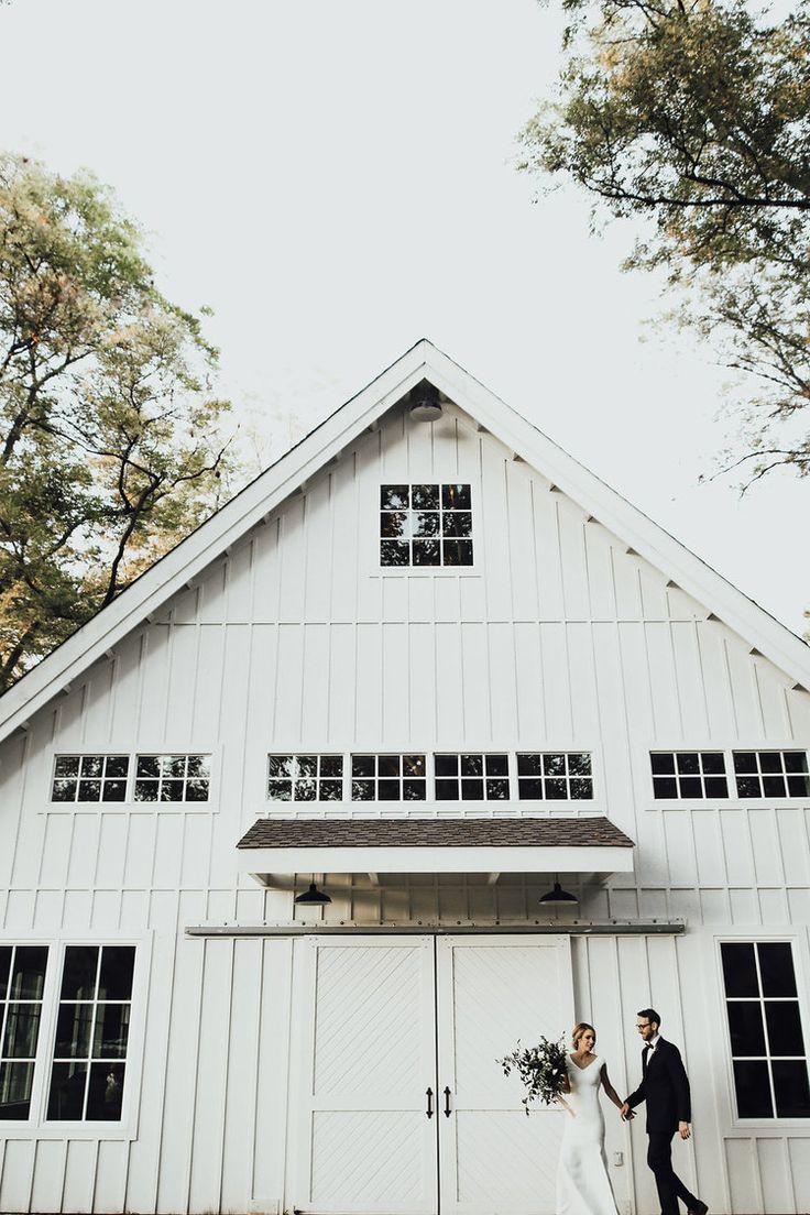 All White Barn Dream Wedding Venue