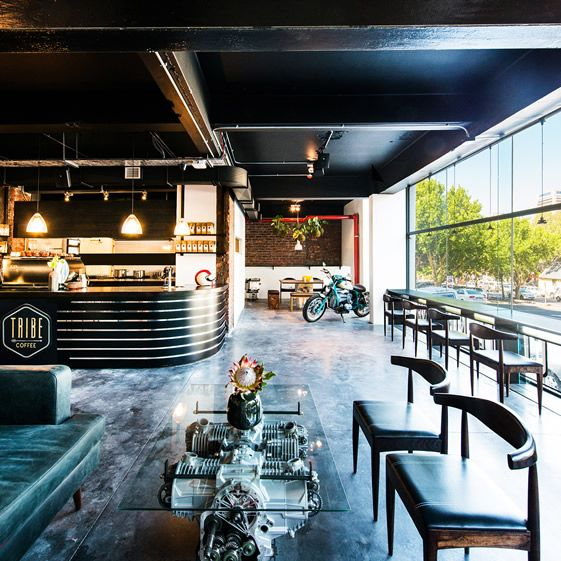 Interior design | decoration | restaurant design | Rev up your engines with a coffee at Cape Town café and bike shop Tribe...