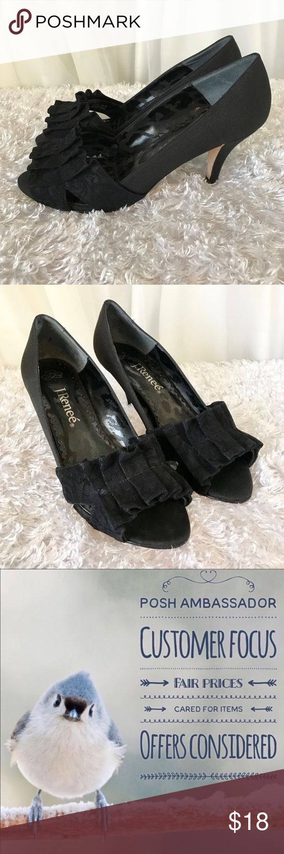 J. Renee Black Suede Pumps Gently used with no flaws  8.5 Medium Width   I ship Monday through Saturday, weather permitting. If you have a moment check out my other items. Thank you! J. Renee Shoes Heels