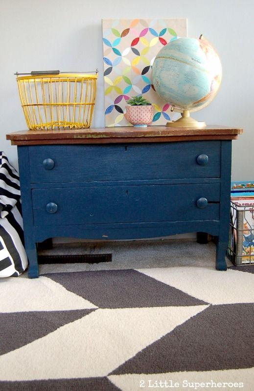 Charming Dark Blue Painted Dresser.