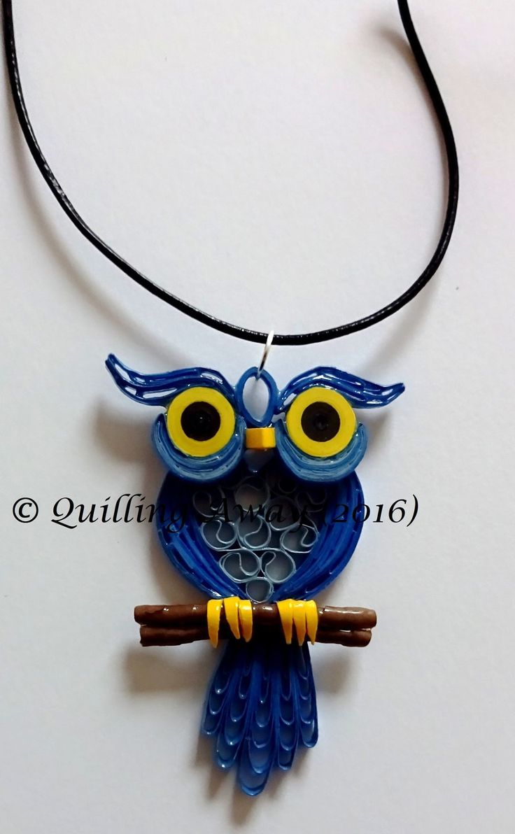Quilled Owl Pendent - by: Quilling Away