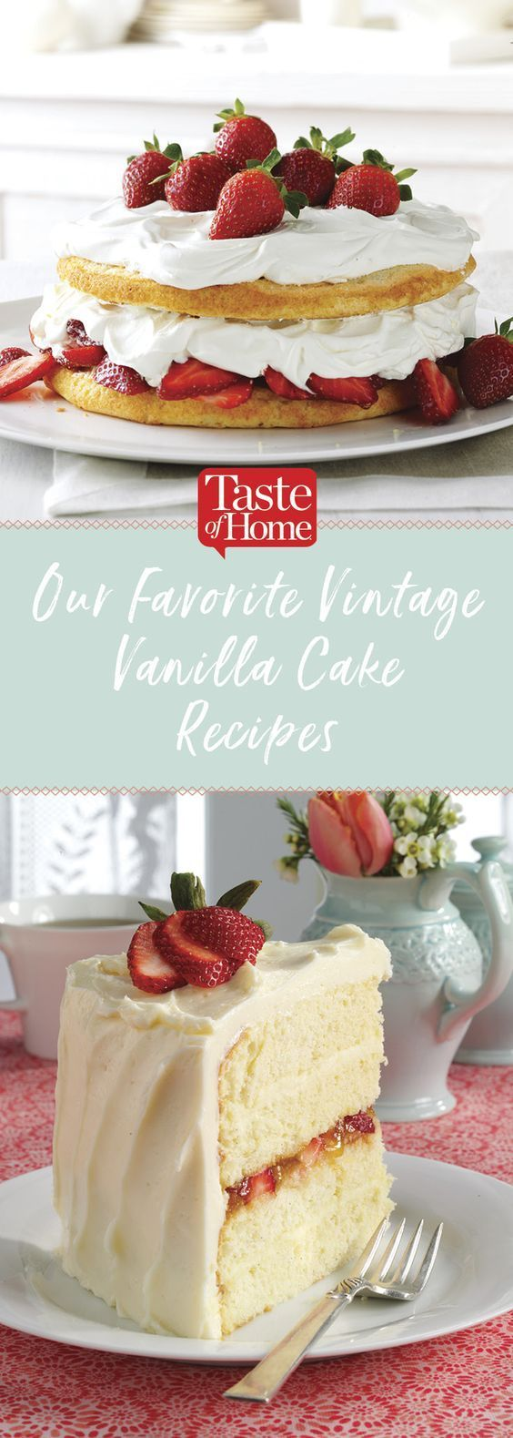 Our Favorite Vintage Vanilla Cake Recipes