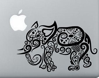 Elephant laptop macbook Mac ipad ipad air notebook Tablet bathroom decal car window car bumper sticker removal vinyl art