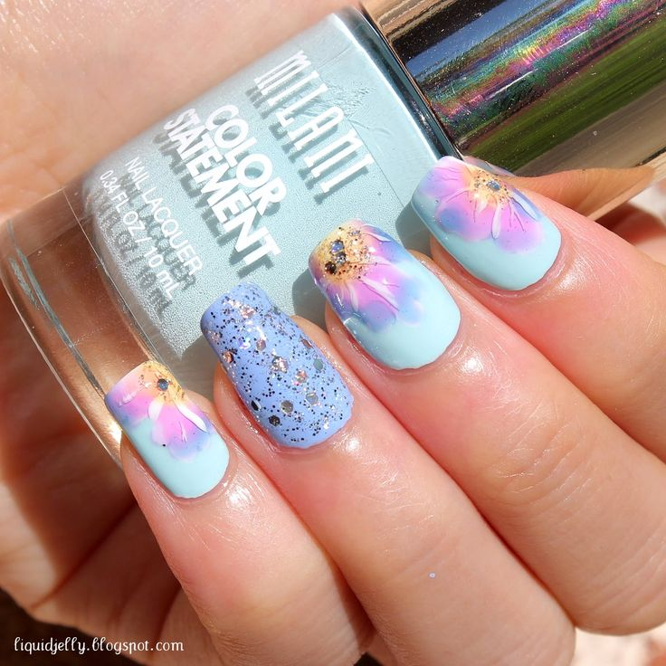 Liquid Jelly: [Nail Art] Tie-Dye Floral