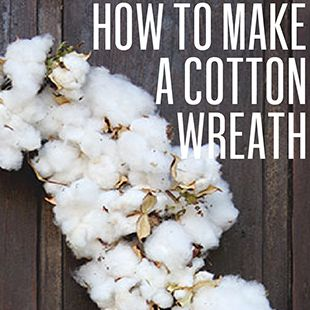 How to make a cotton wreath. #holiday #christmas #diy #gardenandgun