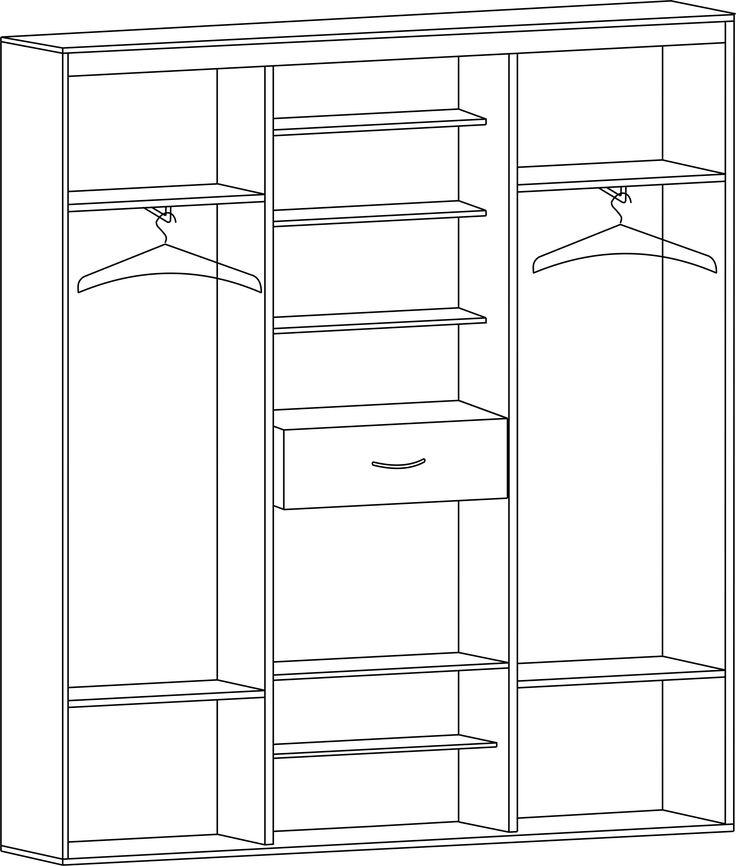 Шкаф-купе для прихожей с двумя зеркальными дверьми