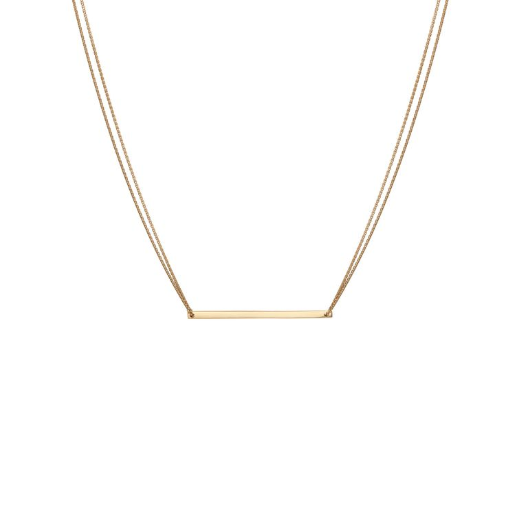 Gold Bar Necklace | AUrate New York