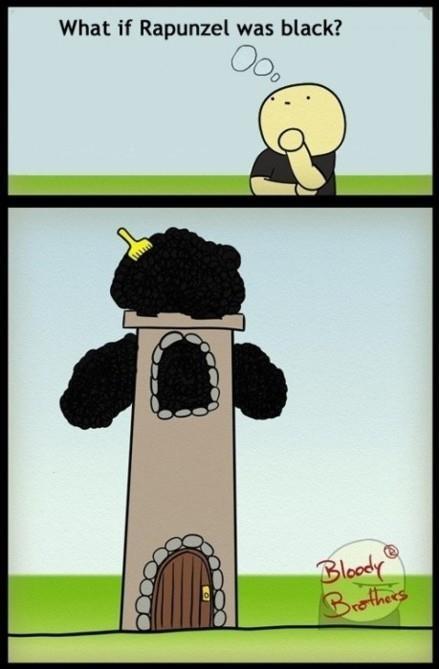 lol: Giggle, What If, Funny Stuff, Funnies, Humor, Hair, Black, Rapunzel