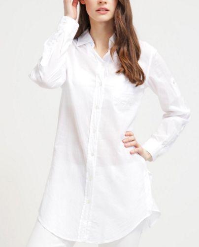 0039 Italy TAYA Koszula damska biała długa weiß