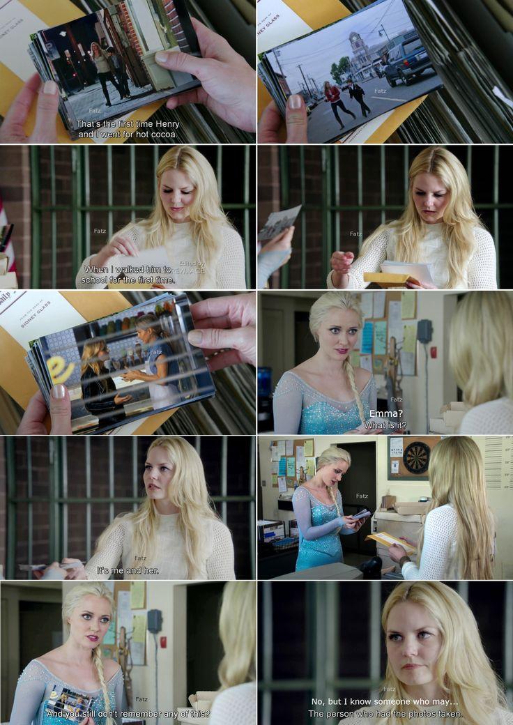 "Emma and Elsa - 4 * 5 ""Breaking Glass."" #FrozenSwan"