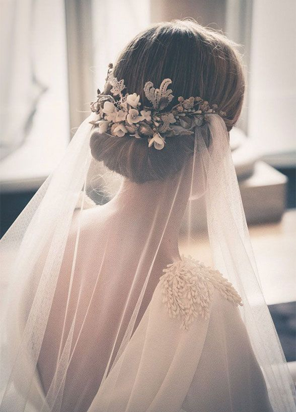 17+ Best Ideas About Wedding Hairstyles Veil On Pinterest | Bridal Hair With Veils Long Veils ...