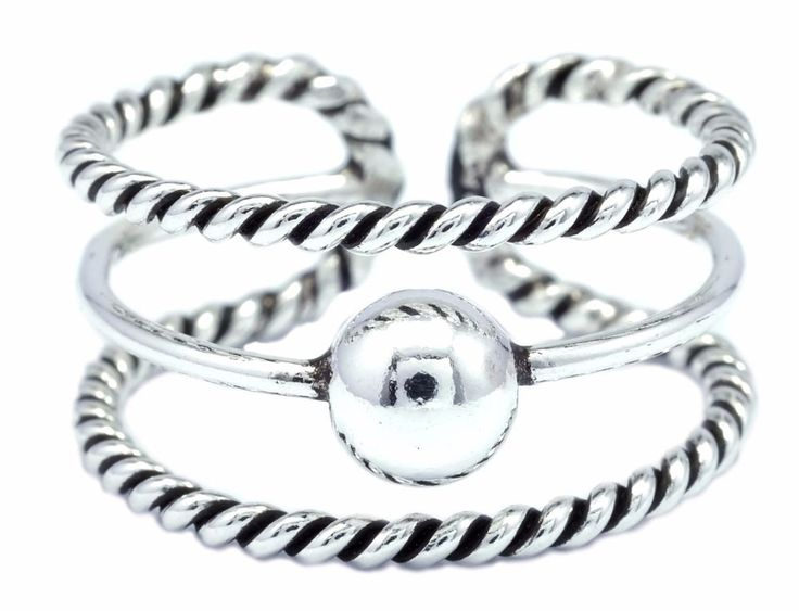 Fashion Three Band Ring 925 Sterling Silver One Sizable Size 7 9 [ISR0025] #BKGjewelry #Band