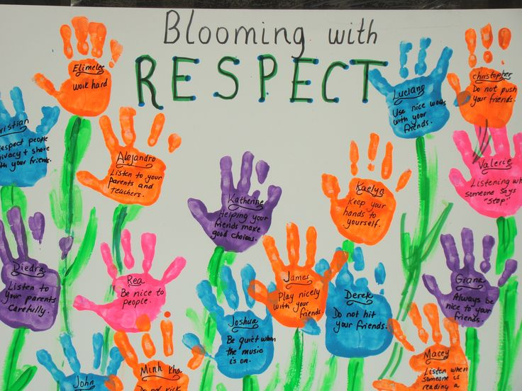 Blooming with respect bulletin board.