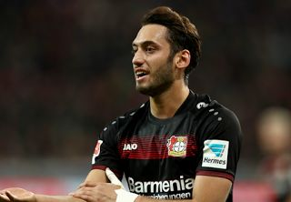 AC Milan have completed the signing of Bayer Leverkusen midfielder Hakan Calhanoglu for a reported fee of €25 million.     The Turkey i...