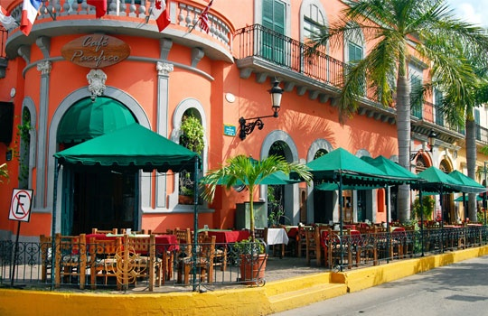 """This sight suggests travel destinations more worth your time than """"tourist traps."""" Been to some; not others. I want to see them all. Pictured:Restaurant, Old Mazatlan, Mexico"""