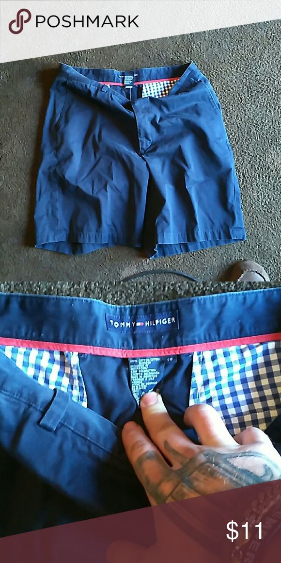 Mens nice Tommy Hilfiger dress shorts. Barely worn Navy blue men's dress shorts Tommy Hilfiger Shorts