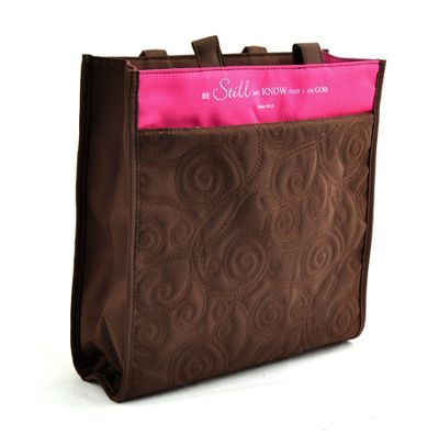 Pink/Brown Be Still and Know Tote