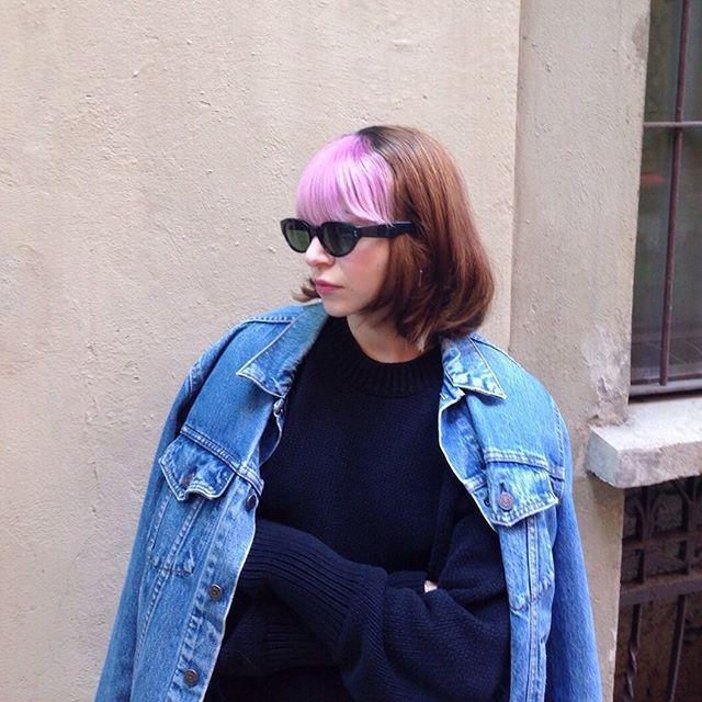 PINK FRINGE for @_acupoftea_ by GUM Technician @moki_pony #gum #gumsalon #gumattitude #girls #fringe #details #pinkhair #milan #haircolor #haircut #grunge #90s