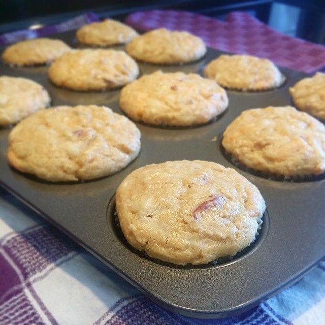 Muffins pomme, érable et cheddar - Apple, maple and cheddar muffins - Trois fois par jour