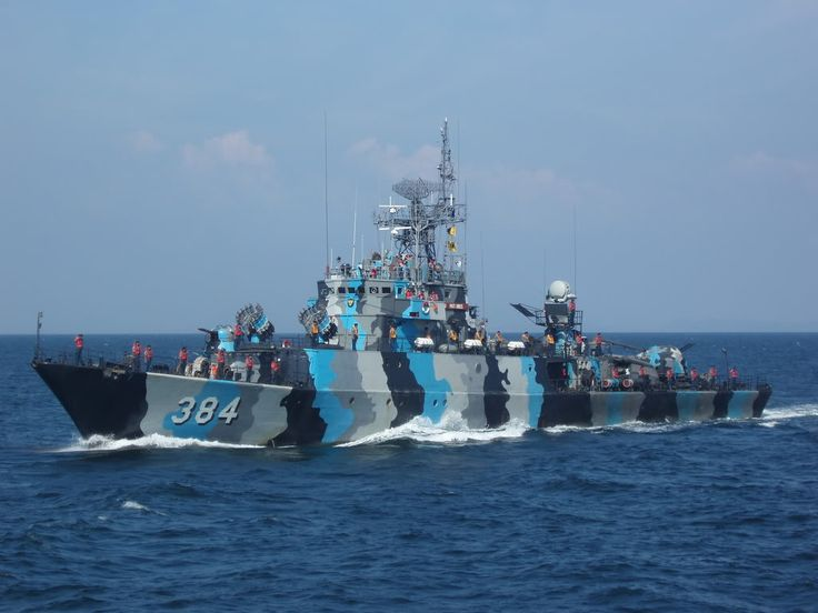 Indonesian Kapitan Patimura-class anti-submarine warfare corvette KRI 'Pati Unus'. Originally designed in East Germany as the Parchim-class.