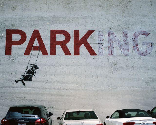 PARKing by Banksy - graffiti/street art