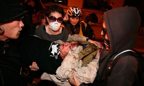 Scott Olsen injuries prompt review as Occupy Oakland protests continue
