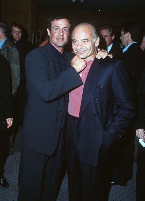 Sly and Burt Young at Rocky event
