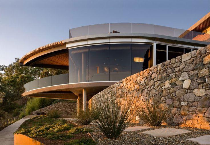 Coastlands House Big Sur California Glass Stone Walls