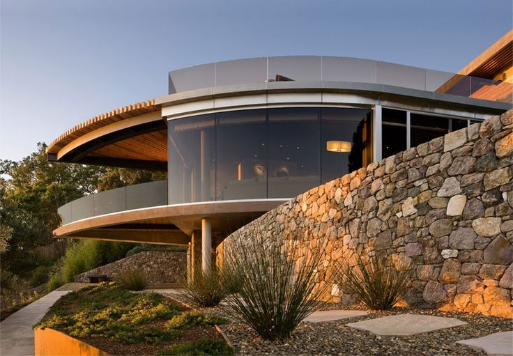 Coastlands House Big Sur California Glass Stone Walls 30 Spectacular Modern Glass Facades Presented on Freshome