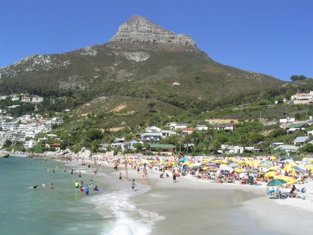 Lions Head from Camps Bay beach