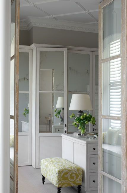 Justine Hugh Jones Design - closets - glass bi fold doors